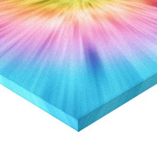 Teñido anudado colorido de Starburst Lienzo Envuelto Para Galerías