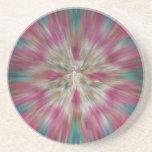 Teñido anudado colorido de Starburst Posavasos Manualidades