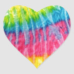 Teñido anudado de Boho del Hippie Pegatina En Forma De Corazón