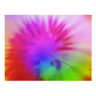 Teñido anudado del arco iris tarjetas postales