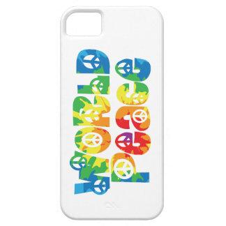 Teñido anudado del caso 2 del iPhone de la paz de iPhone 5 Funda