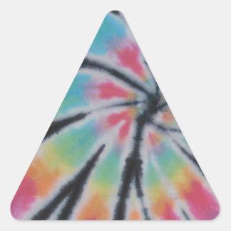 Teñido anudado en colores pastel PhatDyes del arco Pegatina De Triangulo Personalizadas