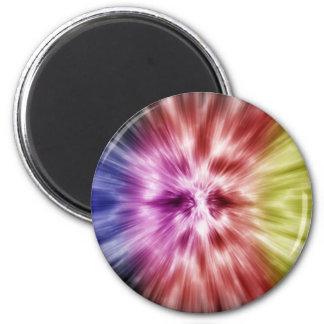 Teñido anudado espectral imán redondo 5 cm