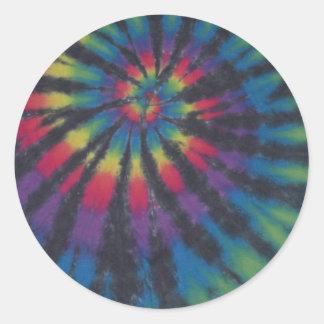 Teñido anudado hermoso PhatDyes del espiral del Etiqueta Redonda