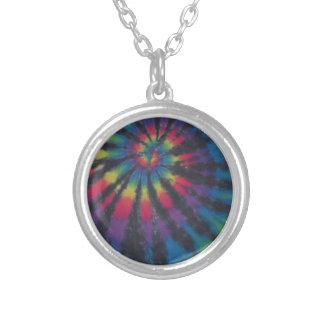 Teñido anudado hermoso PhatDyes del espiral del re Collar Personalizado