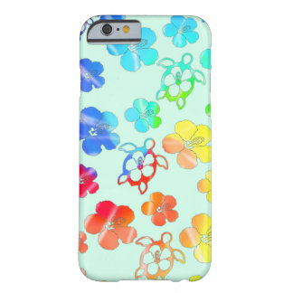 Teñido anudado Honu e hibisco Funda Para iPhone 6 Barely There