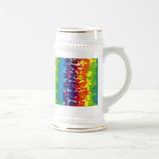 Teñido anudado jarra de cerveza