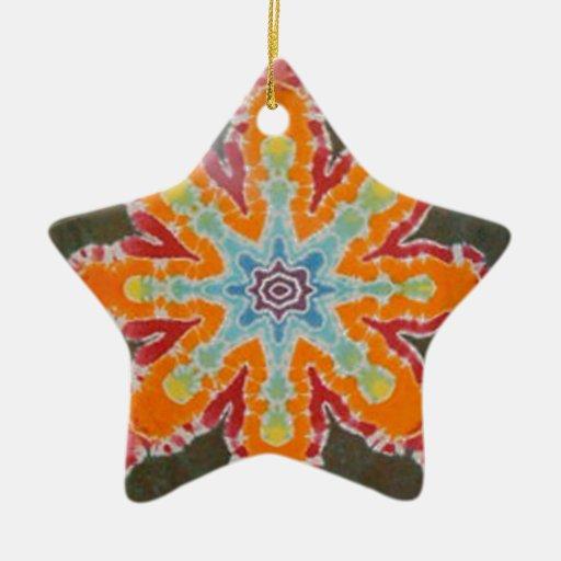 Teñido anudado ligero PhatDyes de la estrella Adorno Navideño De Cerámica En Forma De Estrella