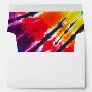 Teñido anudado multicolor sobres
