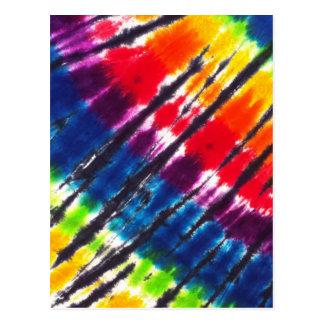 Teñido anudado multicolor tarjetas postales