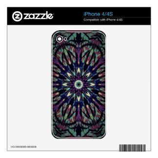 Teñido anudado oscuro calcomanías para el iPhone 4