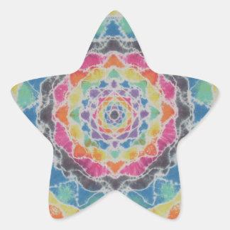 Teñido anudado PhatDyes de la mandala del arco Pegatinas Forma De Estrellaes