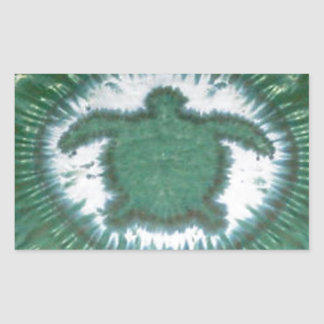 Teñido anudado PhatDyes de las tortugas del amor Rectangular Pegatinas