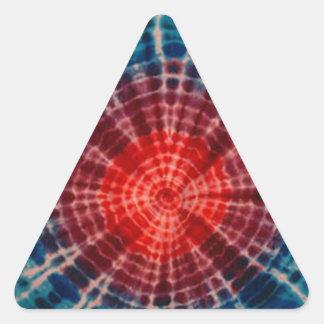 Teñido anudado PhatDyes de los anillos de árbol Calcomanía Trianguloada