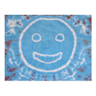 Teñido anudado PhatDyes de Sr. Happy de la sonrisa Postal