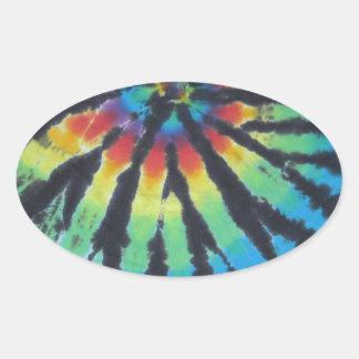 Teñido anudado PhatDyes del espiral del remolino Calcomanías De Ovaladas