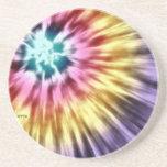 Teñido anudado púrpura abstracto