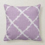 Teñido anudado púrpura almohada