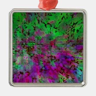 Teñido anudado púrpura y verde ornaments para arbol de navidad