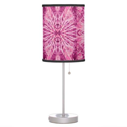 Teñido anudado radiante de la orquídea lámpara de mesa