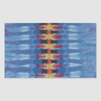 Teñido anudado recto PhatDyes de la espina dorsal Pegatina Rectangular