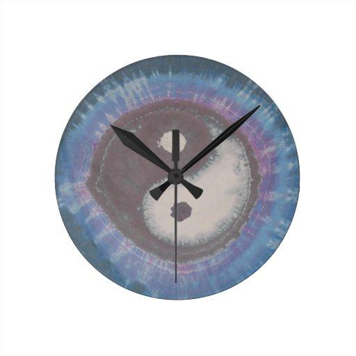 Teñido anudado redondo PhatDyes de Yin Yang Reloj