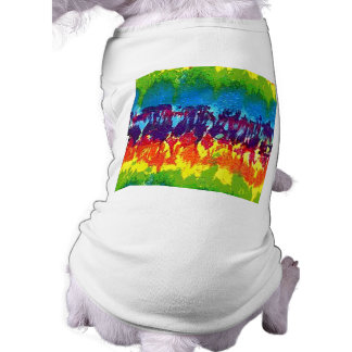 Teñido anudado camisa de perrito