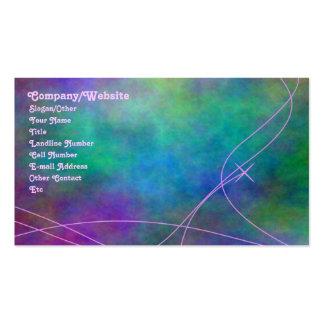 Teñido anudado tarjeta de visita