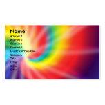 Teñido anudado tarjetas de negocios