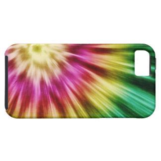 Teñido anudado verde abstracto iPhone 5 cárcasa