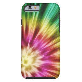 Teñido anudado verde abstracto funda de iPhone 6 tough