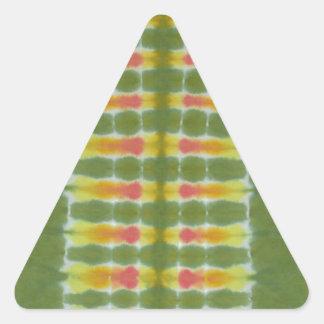 Teñido anudado verde PhatDyes de la espina dorsal Pegatinas Trianguladas