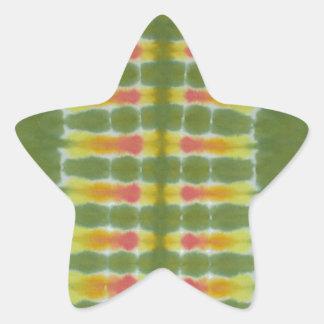 Teñido anudado verde PhatDyes de la espina dorsal Pegatinas Forma De Estrella Personalizadas
