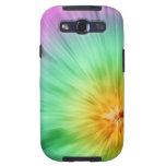 Teñido anudado verde y púrpura galaxy SIII fundas