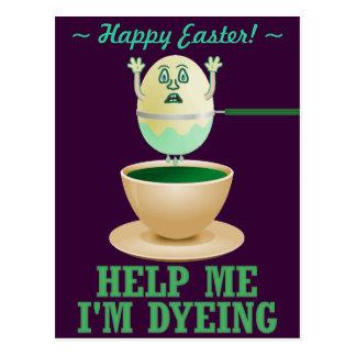 Teñido divertido del huevo de Pascua Postal