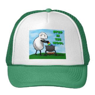 Teñido en el gorra del logotipo de las lanas