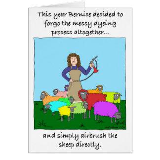 Teñido innovador del hilado tarjeta de felicitación