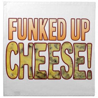 Tenido miedo de encima del queso verde servilleta de papel