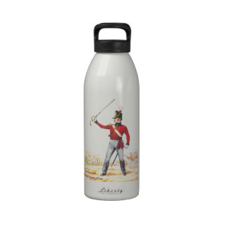 Teniente 1815, regimiento real del pie botella de agua