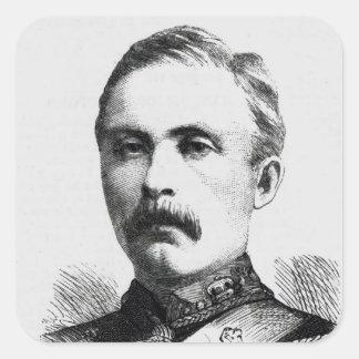 Teniente coronel Hamill Stewart Pegatina Cuadrada