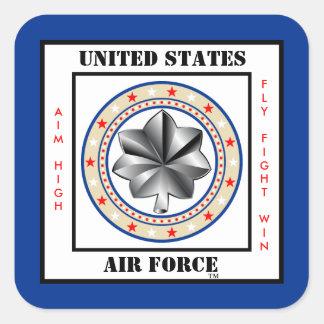 Teniente Coronel LTC O-5 de la fuerza aérea Pegatina Cuadrada