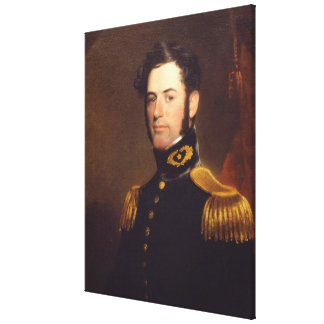 Teniente de los ingenieros Roberto E. Lee en 1838 Impresión En Lona Estirada
