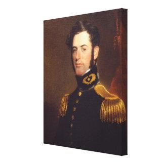 Teniente de los ingenieros Roberto E. Lee en 1838 Lona Envuelta Para Galerias