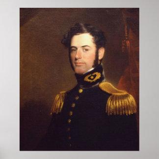 Teniente de los ingenieros Roberto E. Lee en 1838 Póster