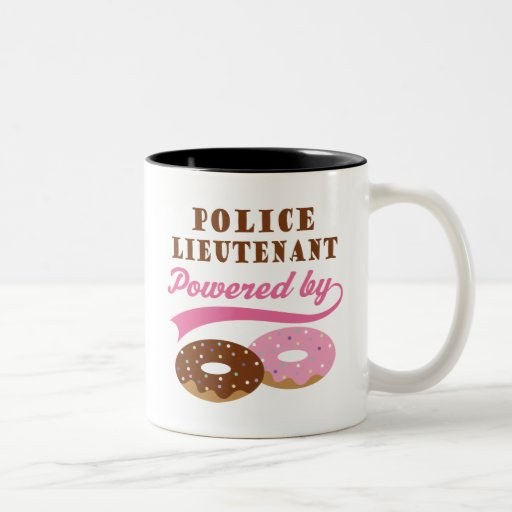 Teniente de policía regalo divertido taza de dos tonos