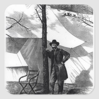 Teniente General Ulises S. Grant Pegatinas Cuadradases