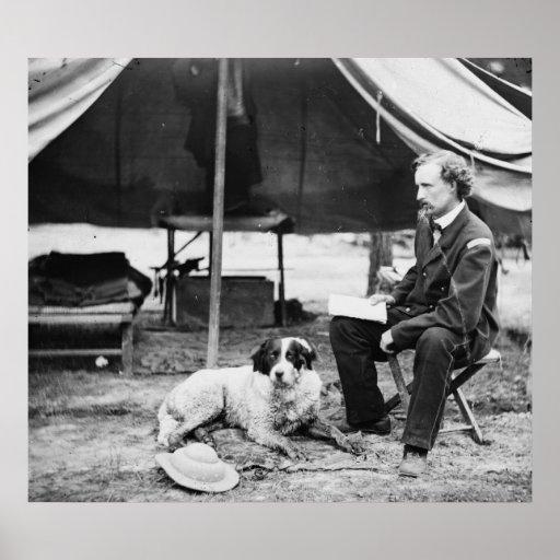 Teniente Georger Custer PhotographVirginia Póster