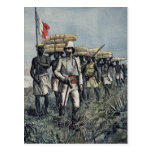 Teniente Mizon en su misión 1892 Tarjetas Postales