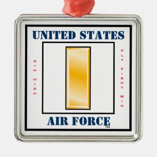 Teniente O-2 de la fuerza aérea segunda Adorno Navideño Cuadrado De Metal