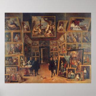 Teniers the Younger - Erzherzog Leopold Wilhelm Print